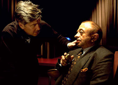 David Lynch with Michael J. Anderson